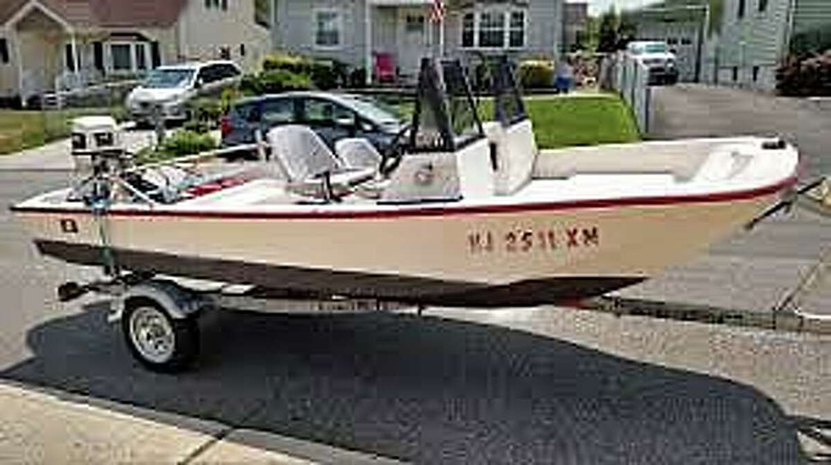 The U.S. Coast Guard is searching for a Groton boater who departed from Groton Elks Lodge and Marina on Friday afternoon on Oct. 30, 2020, but did not return. Matthew Lyon, 49, was reported overdue at 5 p.m. Pictured is a boat similar to Lyon's boat, but his does not have the windshield.