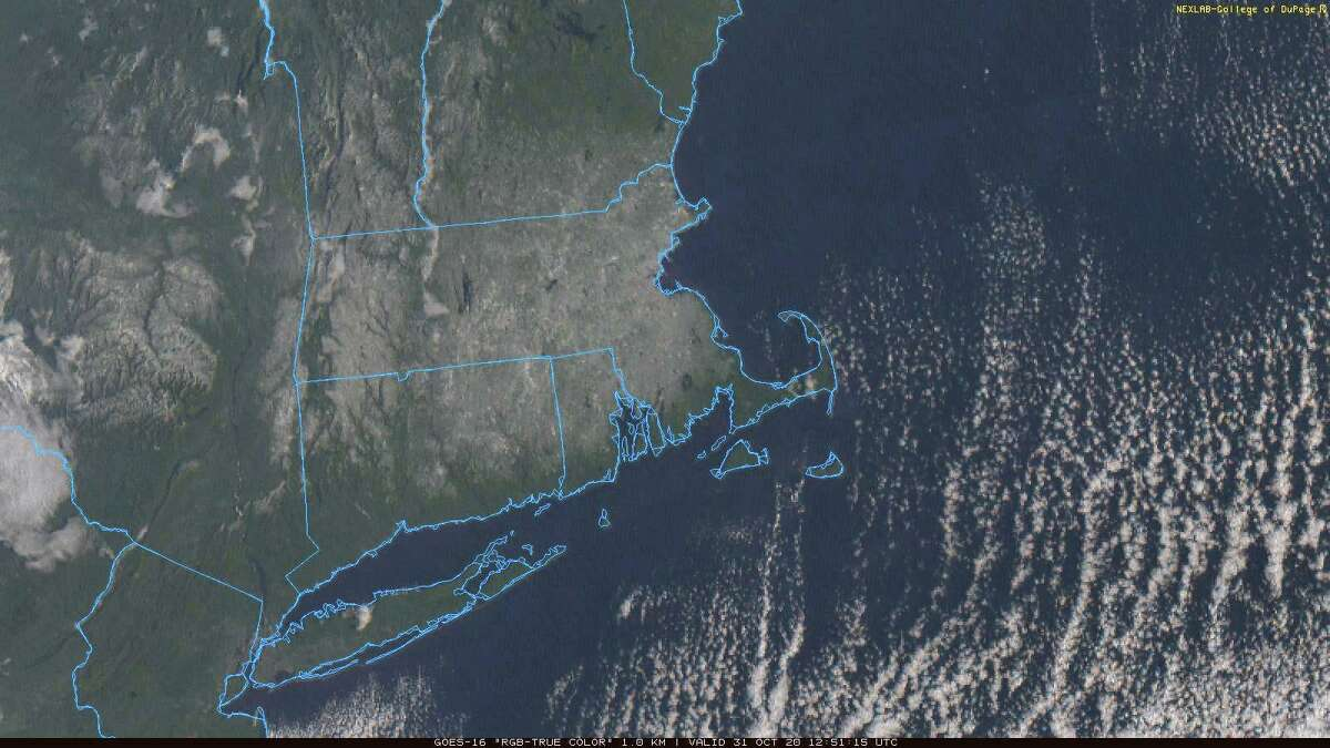 Check the latest visible satellite imagery showing the snow cover across much of southern New England from yesterday's rare October snowstorm. Notice the sharp cutoff in the snow cover along portions of the immediate south coast, Cape and Islands.