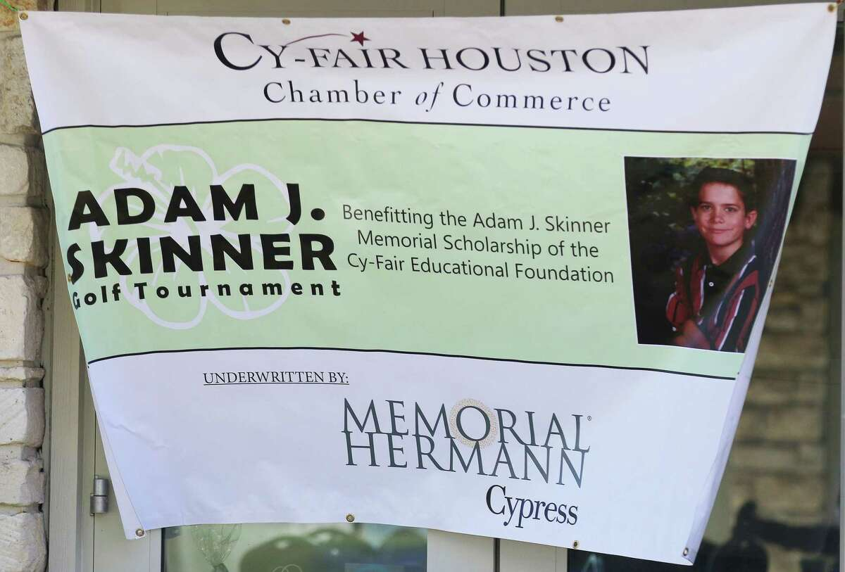 For 22 years the annual Cy-Fair Houston Chamber of Commerce golf tournament has helped fund the Adam J. Skinner Scholarship Fund. The 12-year-old was killed in a car accident 22 years ago and the golf tournament was started by family friend Fred Caldwell who was chairman of the board for the chamber at the time.