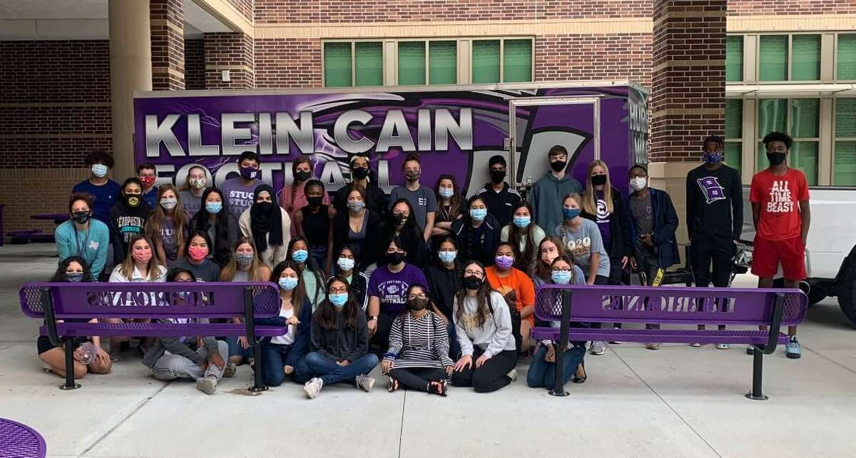 Klein Cain students held a drive to gather supplies for Vinton High School, a Louisiana high school that received significant damage from Hurricane Laura.