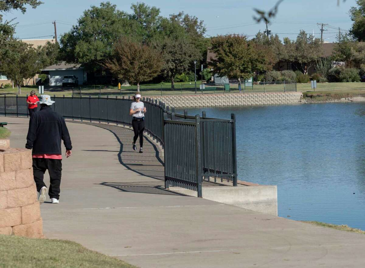 Walkers and runners take advantage of nice weather 10/31/2020 at Wadley Barron Park. Tim Fischer/Reporter-Telegram