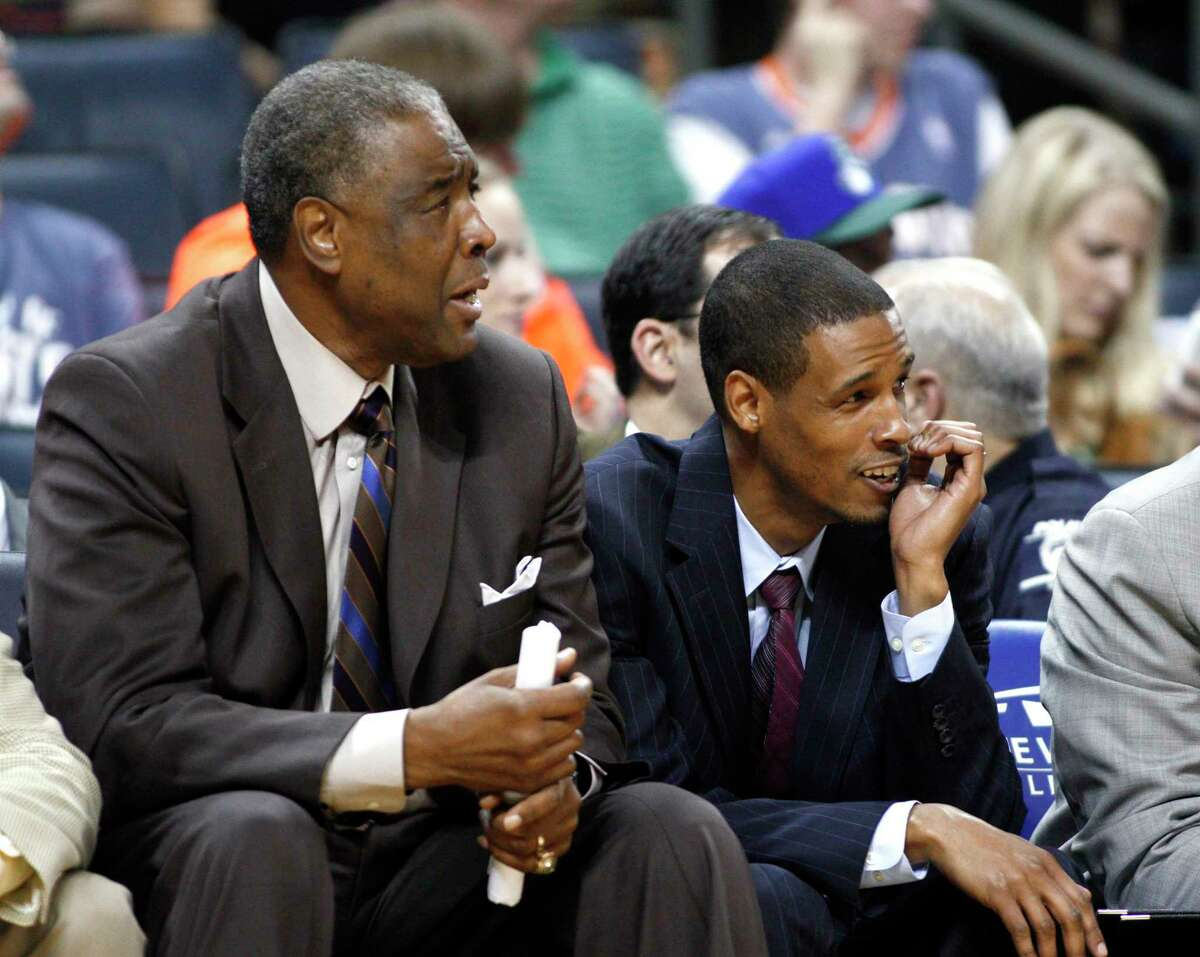 Paul Silas, left, and son Stephen coached together on the Charlotte Bobcats from 2010-2012.