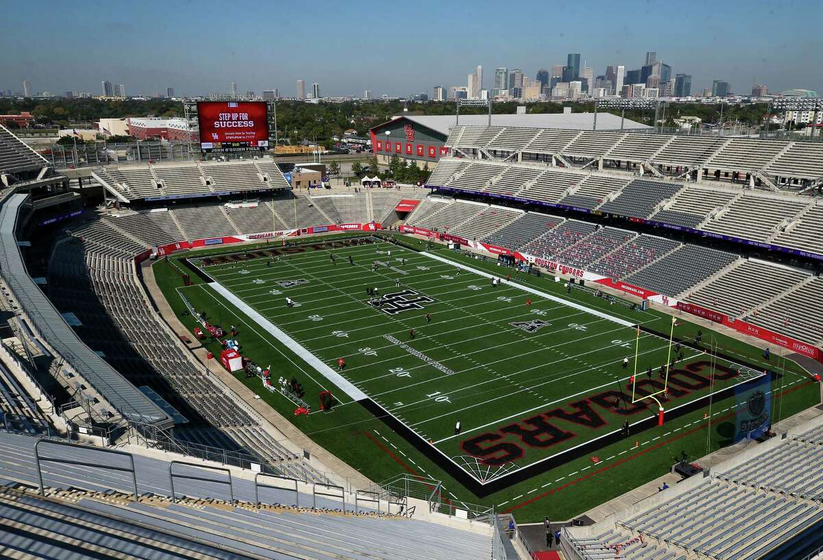 TDECU Stadium will remain at 25 percent capacity for football games. The stadium is shown here before Saturday's game vs. UCF.