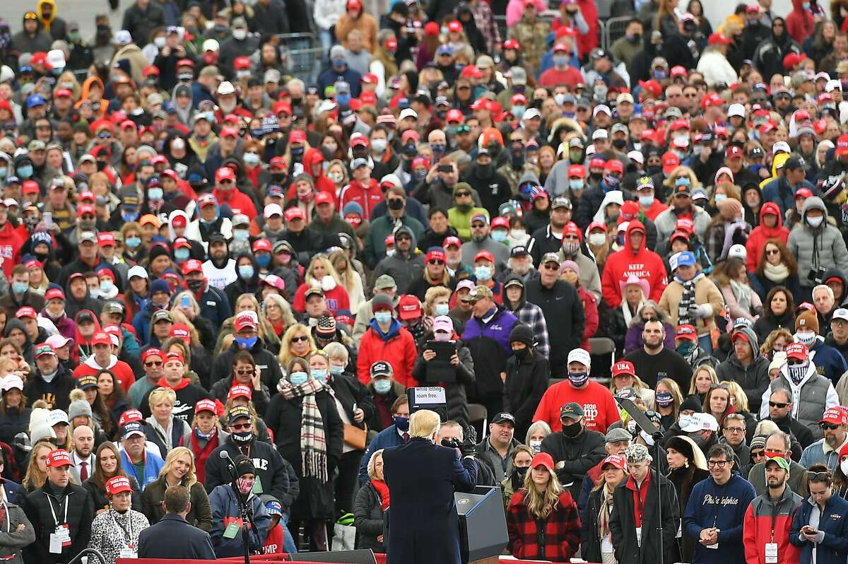 President Trump addresses supporters in Reading, Pa.