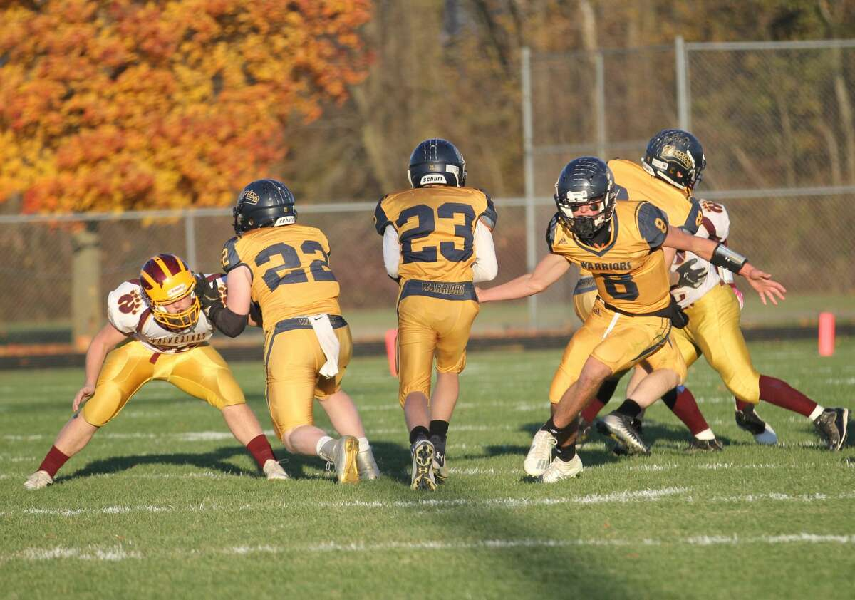 The North Huron Warriors opened the 2020 playoffs with a win over Au-Gres Sims.