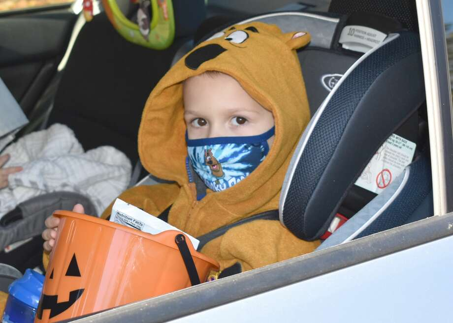 In Pictures- The 2020 Trunk or Treat was held in social distancing, drive thru fashion in Winsted on Halloween, October 31, 2020. Photo: Lara Green- Kazlauskas/ Hearst Media