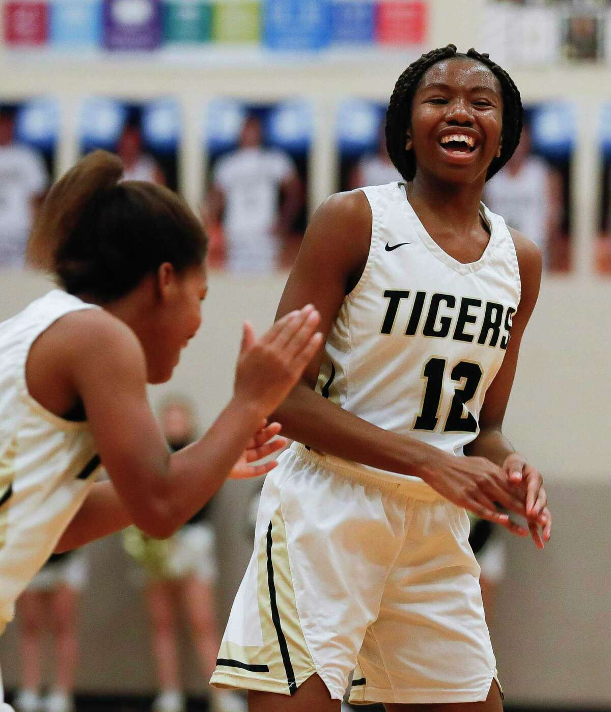 Conroe guard Tiarra Howard (12) is expected to take a largers scoring role in the 2020-21 season.
