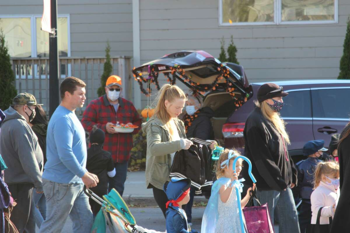 Trunk or Treat in Frankfort on Halloween.