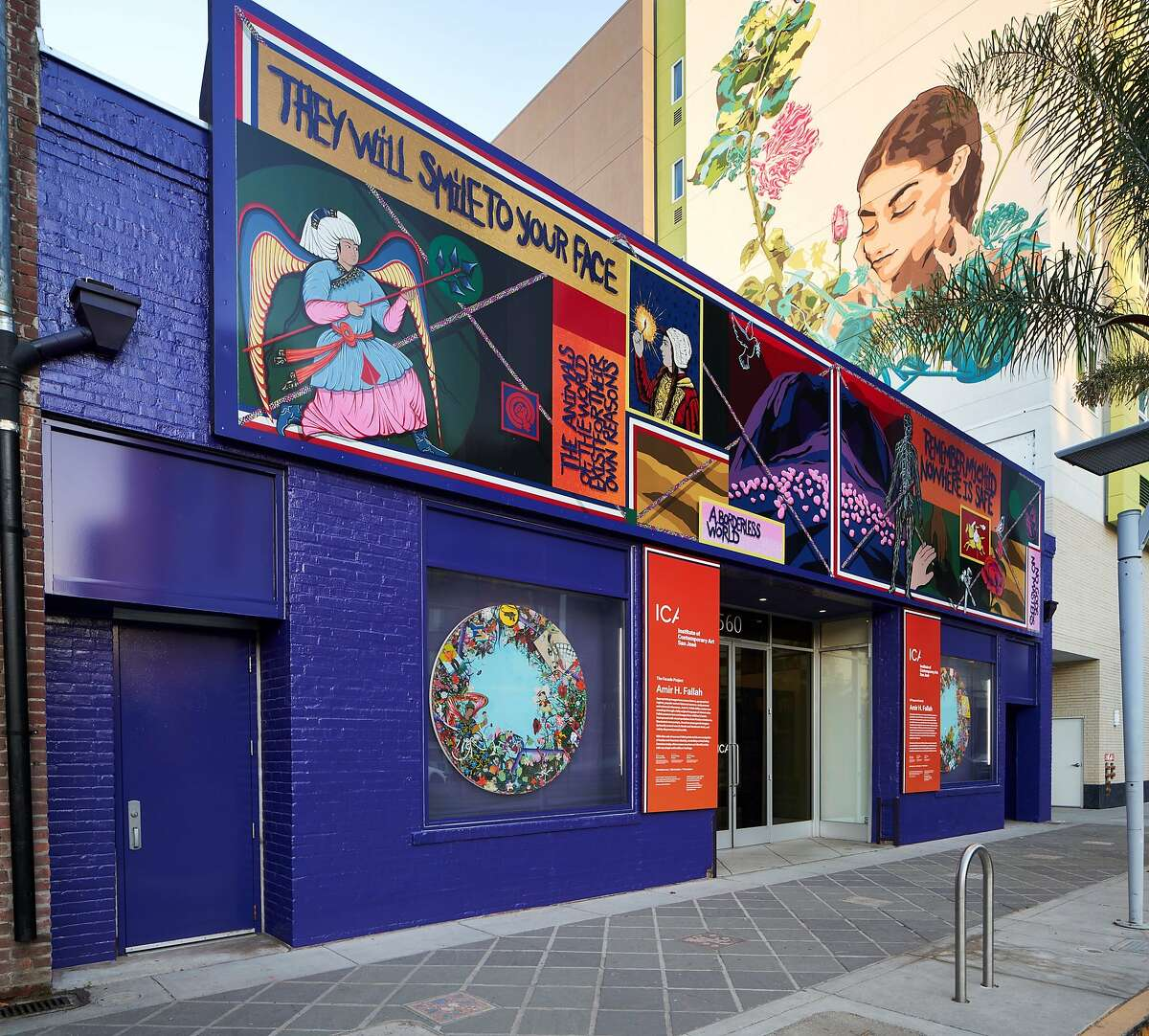 """ICA San Jose commissioned this mural by Amir H. Fallah, titled """"Remember This,"""" and invited its board members to become poll workers. It helped bring in voters over the weekend."""