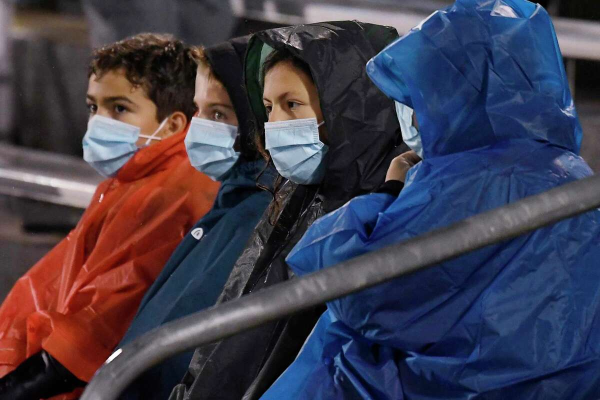 Fans attend the MLS match between Toronto FC and Inter Miami, Sunday, Nov. 1, 2020, in East Hartford, Conn. Toronto FC's final home game in Connecticut was open to up to a limited number of fans. (AP Photo/Jessica Hill)