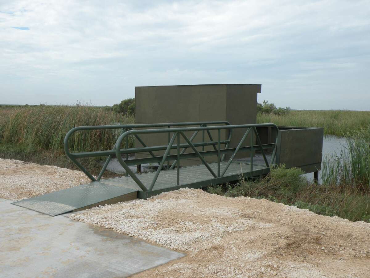 An ADA-compliant duck blind at Brazoria National Wildlife Refuge, the first of its kind on the Texas coast's public lands.