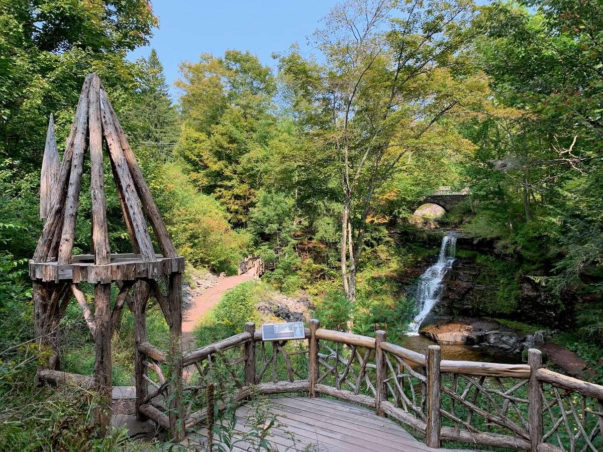 A nature trail surrounding the Stratton Falls.