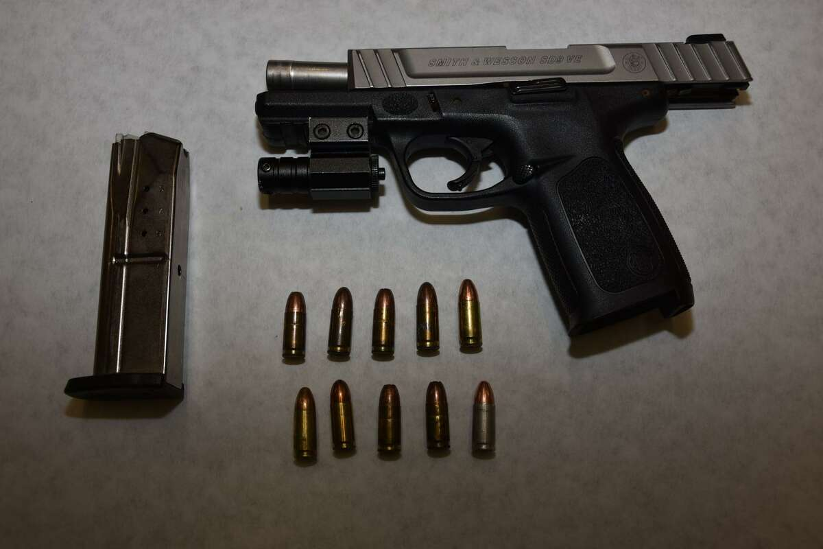 One of the guns seized by Meriden, Conn., police.