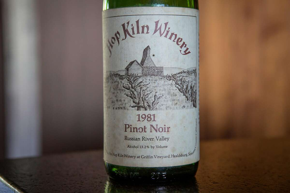 The 1981 Hop Kiln Pinot Noir, which was made from Cohn Vineyard fruit.