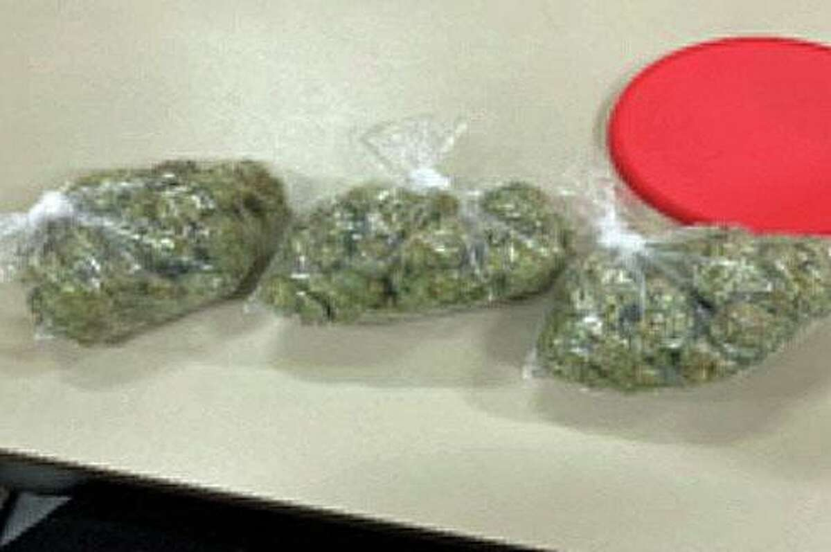 Marijuana seized by police from a Franklin Street apartment in Meriden, Conn.