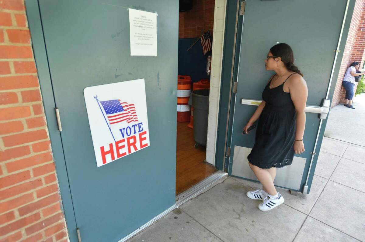 The polls were open for voting at Kendall School on Tuesday August 14, 2018 in Norwalk Conn.