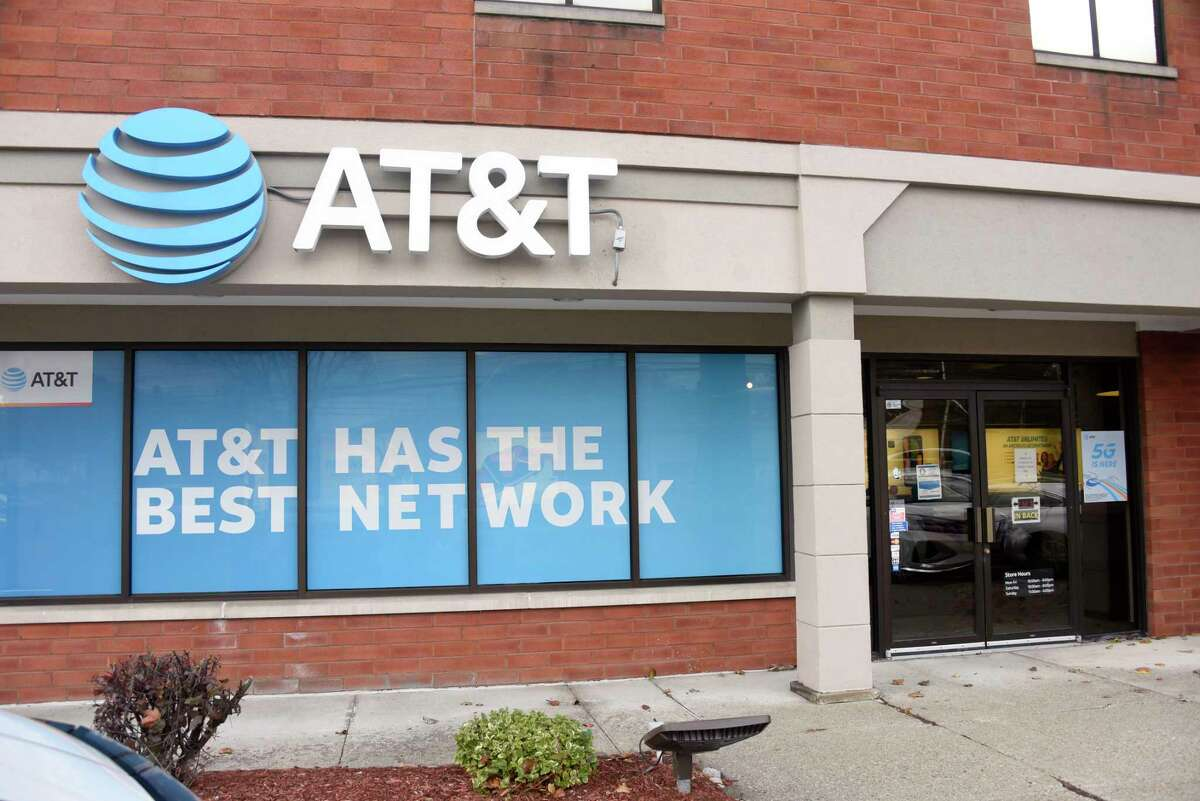 The AT&T Store on Central Ave. on Monday, Nov. 2, 2020 in Albany, N.Y. AT&T is donating 1,000 hotspot devices and internet service to local nonprofits. (Lori Van Buren/Times Union)