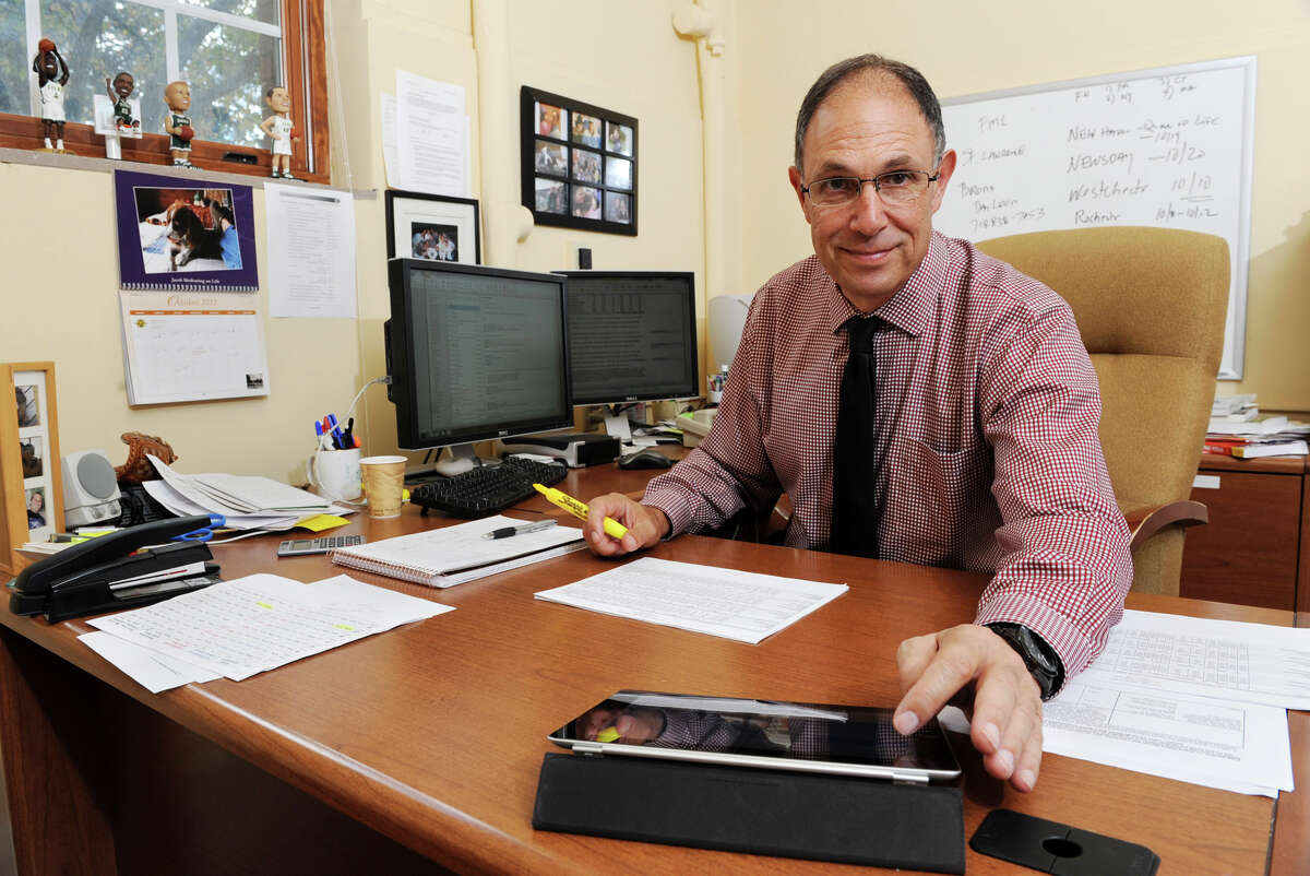 Don Levy works in his office at Siena College Tuesday, Oct. 16, 2012 in Albany, N.Y. (Lori Van Buren / Times Union)