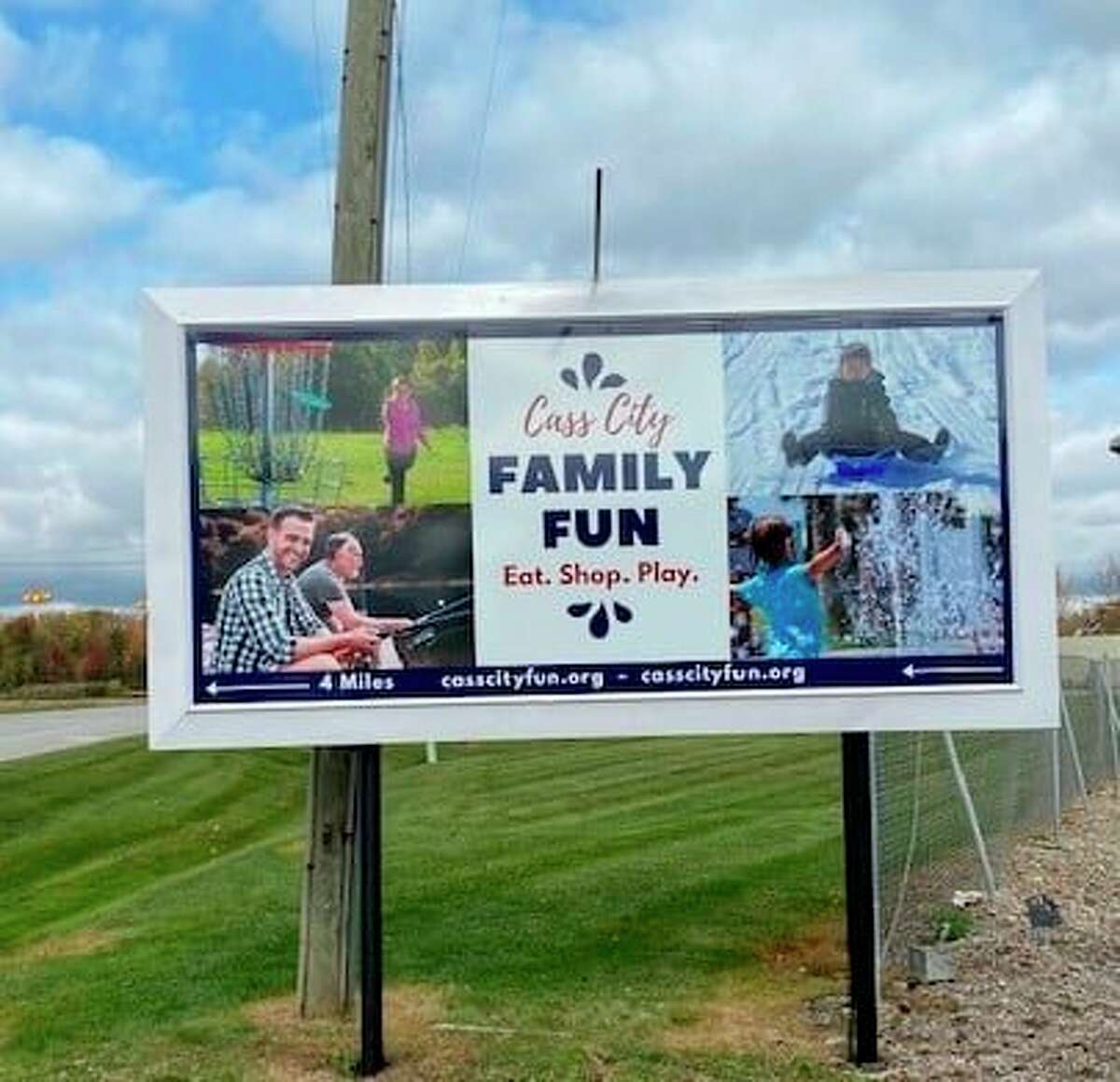 Officials in the village of Cass City are hoping to let people know what the village has to offer through a new marketing campaign. A highway sign has been placed, and a video showcasing the community made. (Courtesy Photo)