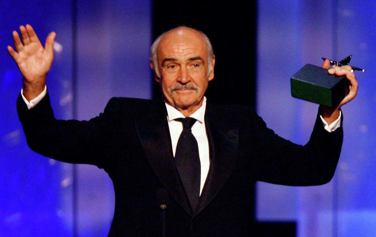 In this photo released by the American Film Institute, Sean Connery accepts his AFI Life Achievement Award during a ceremony on Thursday night, June 8, 2006, honoring the legendary actor, at the Kodak Theatre in the Hollywood section of Los Angeles.