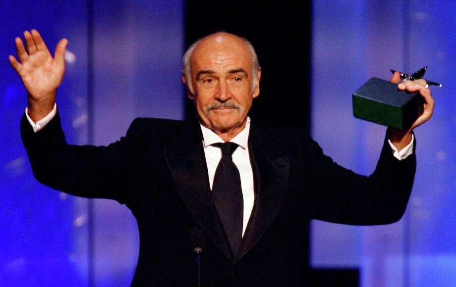 In this photo released by the American Film Institute, Sean Connery accepts his AFI Life Achievement Award during a ceremony on Thursday night, June 8, 2006, honoring the legendary actor, at the Kodak Theatre in the Hollywood section of Los Angeles. Photo: KEVIN WINTER / AP / AMERICAN FILM INSTITUTE