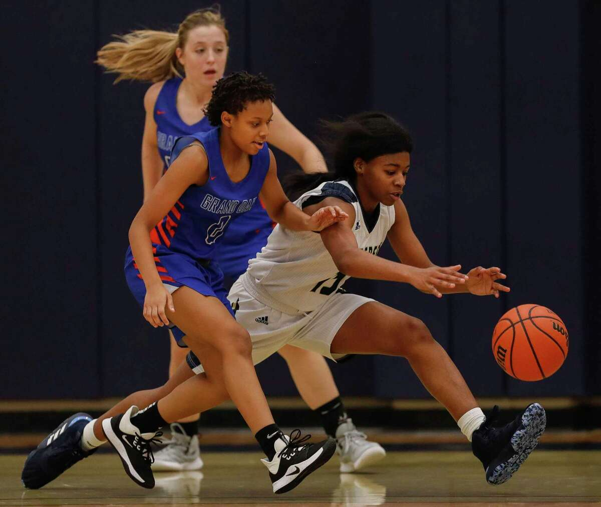 Lake Creek guard Taliyah McShan (15) is one of two All-Montgomery County players for the Lions.