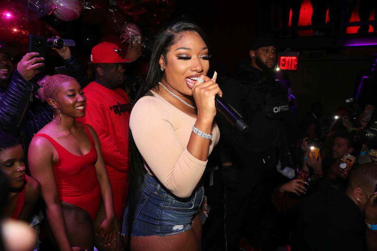 NEW YORK, NEW YORK - MARCH 09: Megan Thee Stallion performs at the TIDAL X Megan Thee Stallion