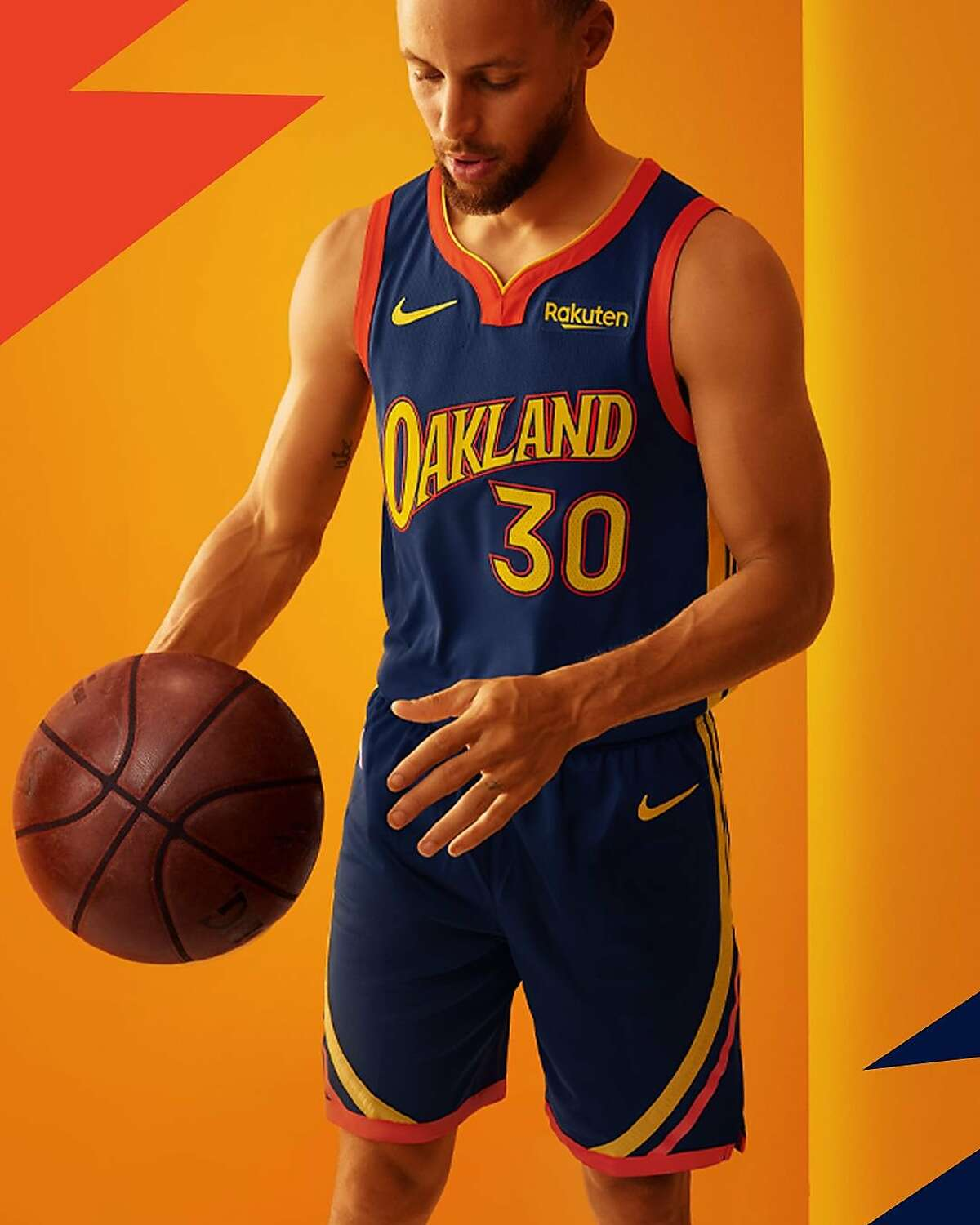 The Warriors unveiled a special jersey Monday that celebrates the team's 47 seasons in Oakland.