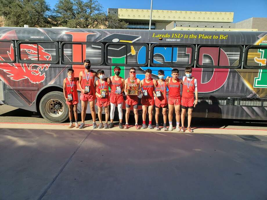 The Martin boys' cross country team won the District 30-5A team title on Saturday. Photo: Courtesy Of Martin Athletics