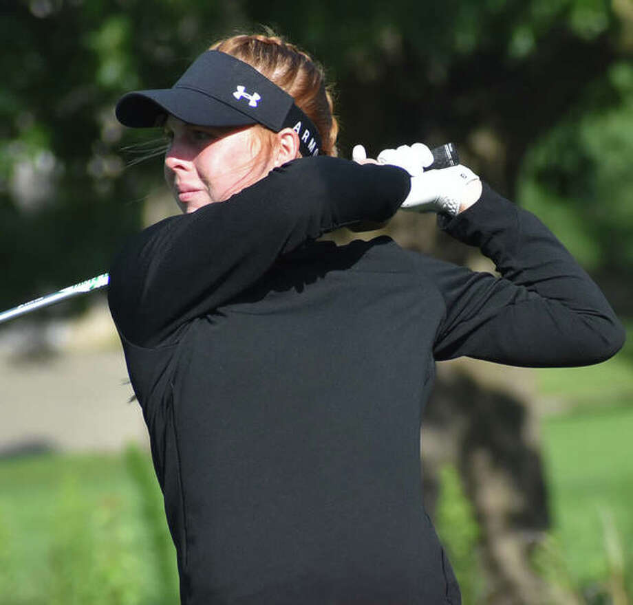 Edwardsville junior Riley Lewis verbally committed to play women's golf for the University of Iowa following her graduation from Edwardsville High School. Photo: Matt Kamp|The Intelligencer