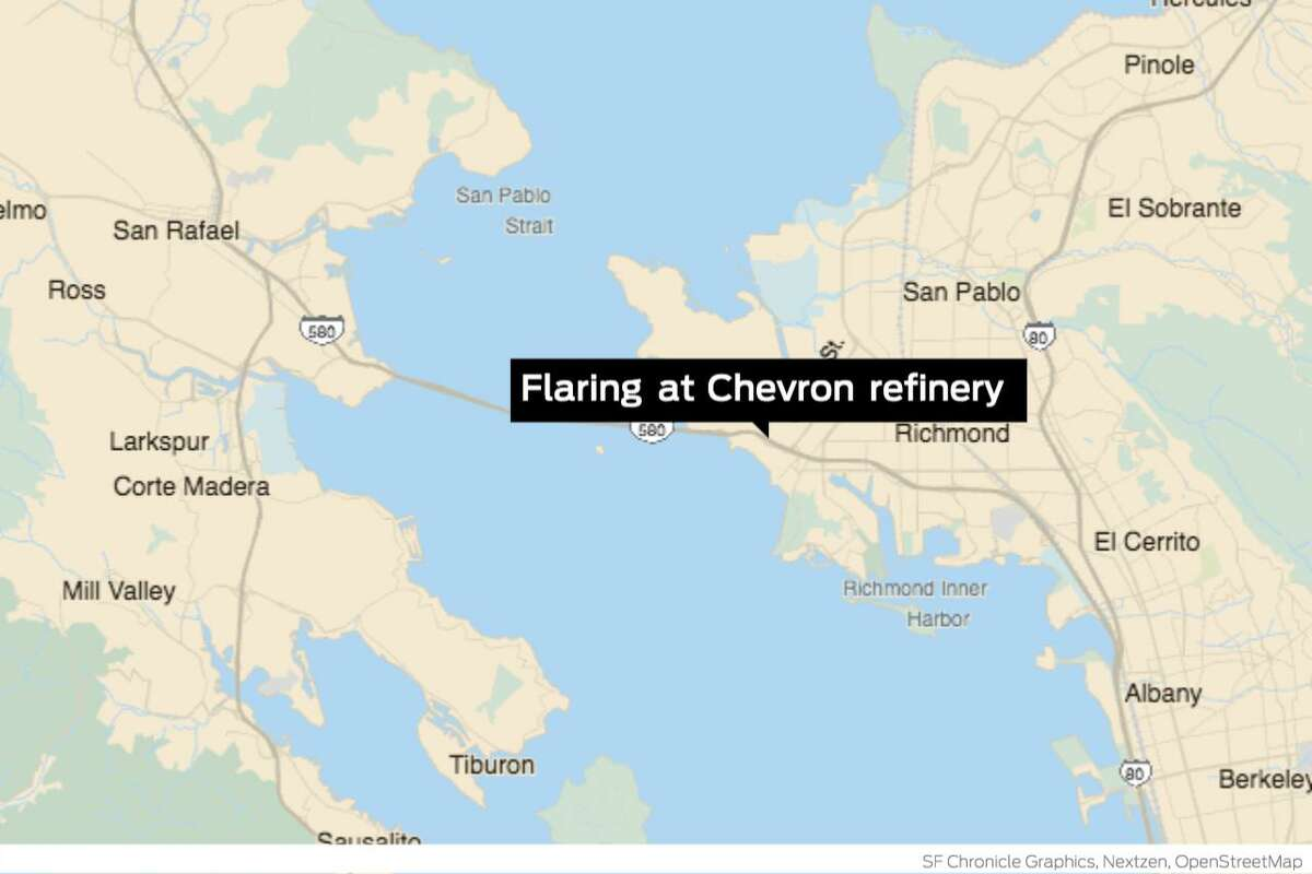Contra Costa County officials said they're are monitoring conditions at the Chevron refinery in Richmond, where flaring is sending billows of dark smoke into the sky. The incident began shortly after 1 p.m. Monday