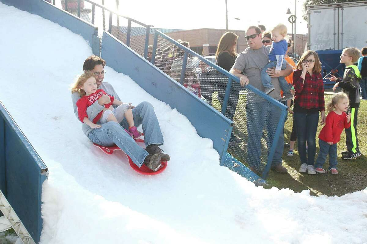 The snow hill is one of the attractions to return to this year's Alvin's Home For the Holidays festival.