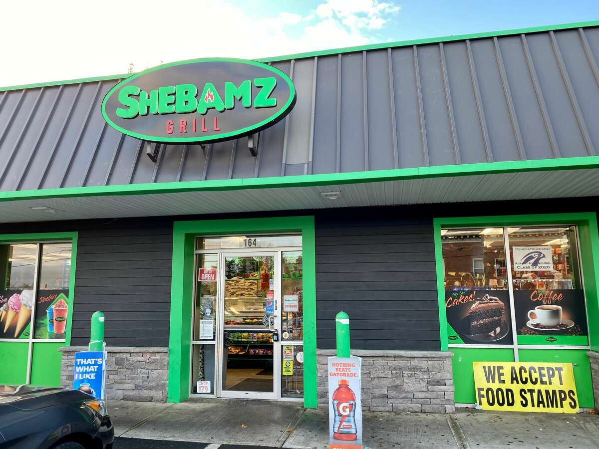 The exterior of Shebamz Grill in Albany. (Susie Davidson Powell for the Times Union.)