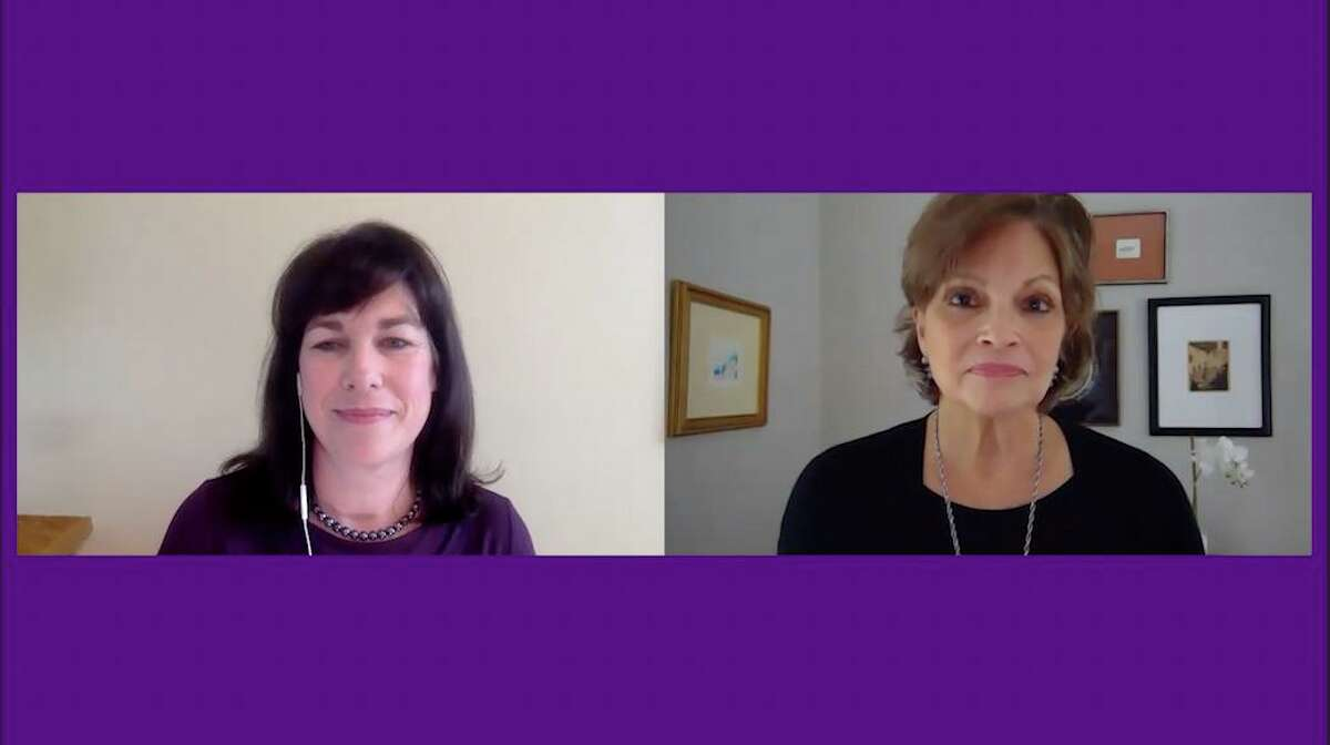 Suzanne Adam, executive director of the Domestic Violence Crisis Center, talks with TALKING ABOUT IT podcast host Cindy Graziano.