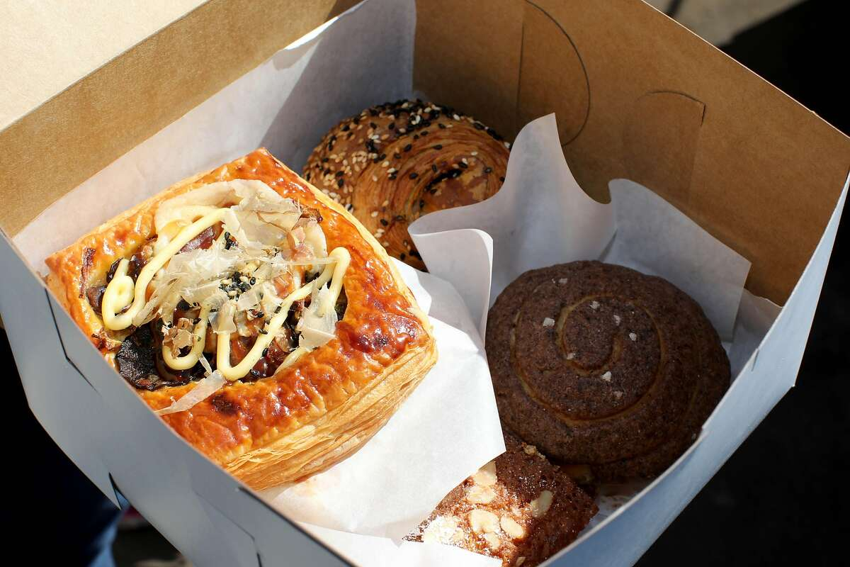 One of Bake Sum's Asian-inspired pastry boxes sold at Magnolia Mini Mart in Oakland. The shop serves as a home for some of the most exciting bakery pop-ups in the Bay Area.