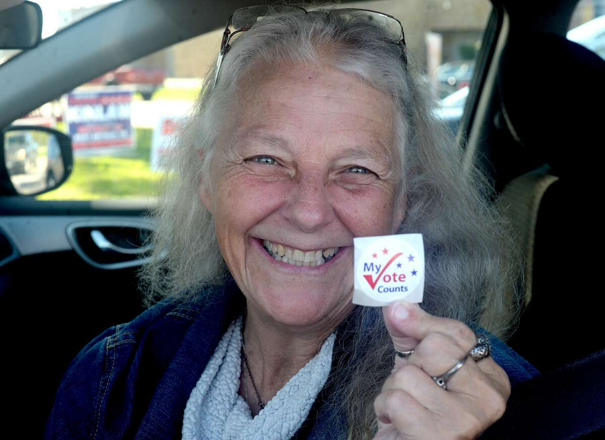 Debra Teran says she was thrilled to have voted in her first election at the age of 58. She was able to conquer her decades of anxiety about the process of voting and making the wrong choices and got herself out to the polls Friday.