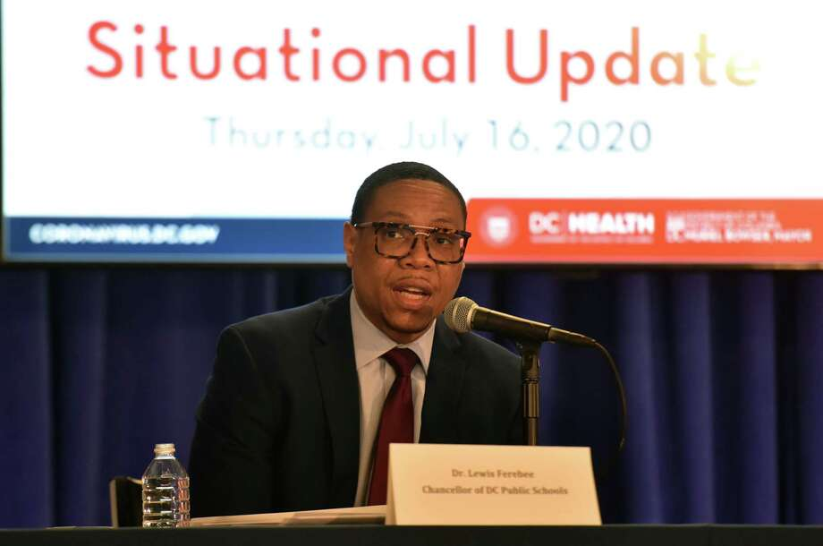 D.C. Public Schools Chancellor Lewis Ferebee announced Monday that the school system has canceled a plan to bring some elementary students back to classrooms on Nov. 9. Photo: Washington Post Photo By Marvin Joseph. / The Washington Post