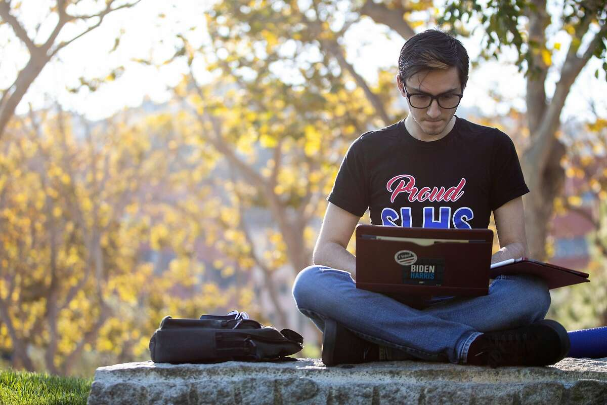 Student James Aguilar participates in student government at San Francisco State University. He believes online exams offer students many opportunities to cheat.