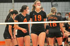 The Ubly varsity volleyball team swept Carsonville-Port Sanilac Monday night in straight sets, 25-12, 25-10, 25- 8.