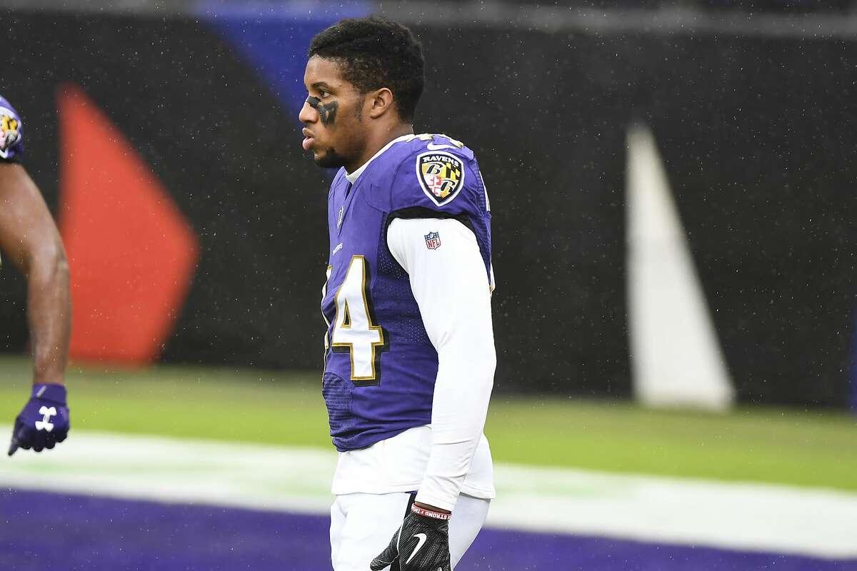 Ravens cornerback Marlon Humphrey played Sunday despite being ill Wednesday.