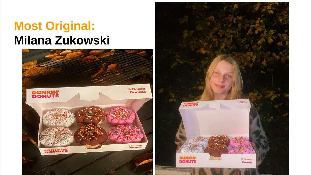 "Milana Zukowski captured ""Most Original"" ."