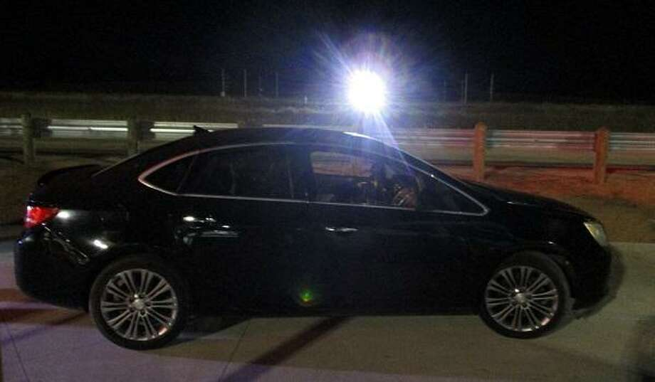 A stolen vehicle was recovered at the IH-35 checkpoint on Halloween. Photo: Courtesy / U.S. Border Patrol