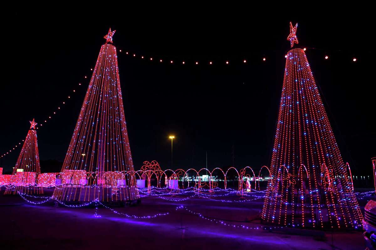 Scenes from The Light Park, a new drive-through holiday experience are shown Monday, Nov. 2, 2020 in Spring. The attractions include a 700-foot long animated LED tunnel. All told, the park boasts more than 1 million LED lights for a one-mile show that is synched and choreographed to holiday music on a dedicated station.