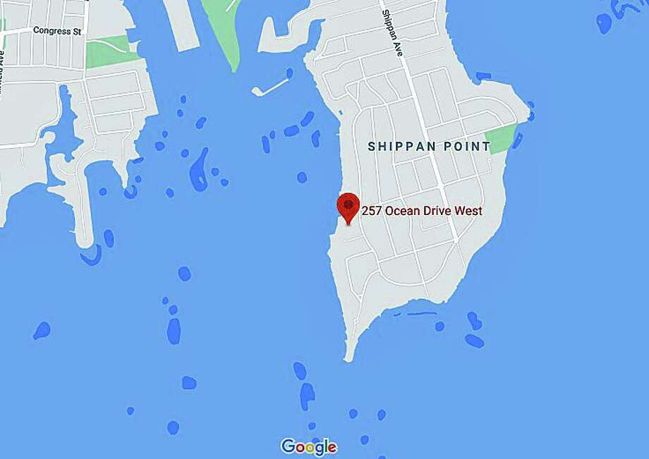 Stamford police were called to save a man from a capsized canoe off Shippan at about 8:30 a.m. Tuesday morning on Nov. 3, 2020, police said. Photo: Google Maps