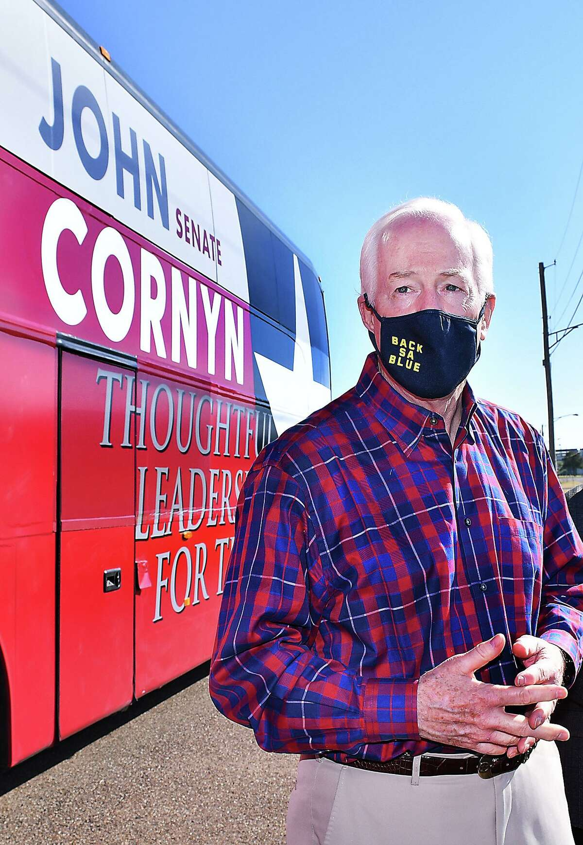 Senator John Cornyn stopped in Laredo on Monday, Nov. 2 for a rally to get out the vote as Cornyn seeks re-election.