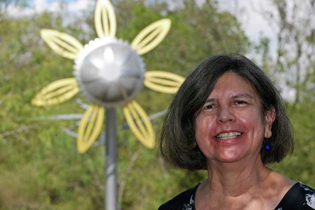 """Artist Leticia Huerta created oversized wildflowers for """"Bloom,"""" an installation at McAllister Park."""