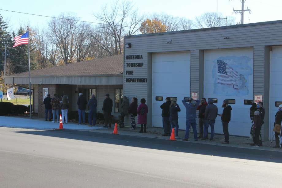 Voters in Benzie County came out to cast their ballots and decide a number of issues, from the next President of the United States to local ballot initiatives. Photo: Colin Merry