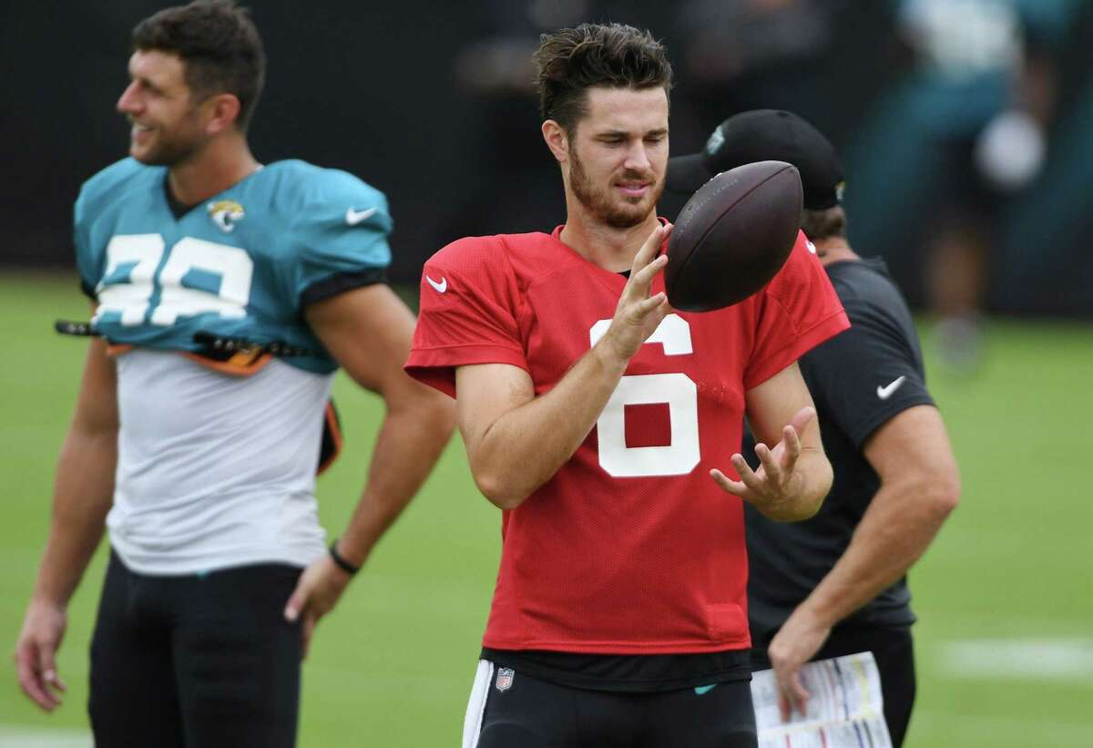 Jaguars' rookie quarterback Jake Luton (6), at a scrimmage in August, will start against the Texans as a replacement for the injured Gardner Minshew.
