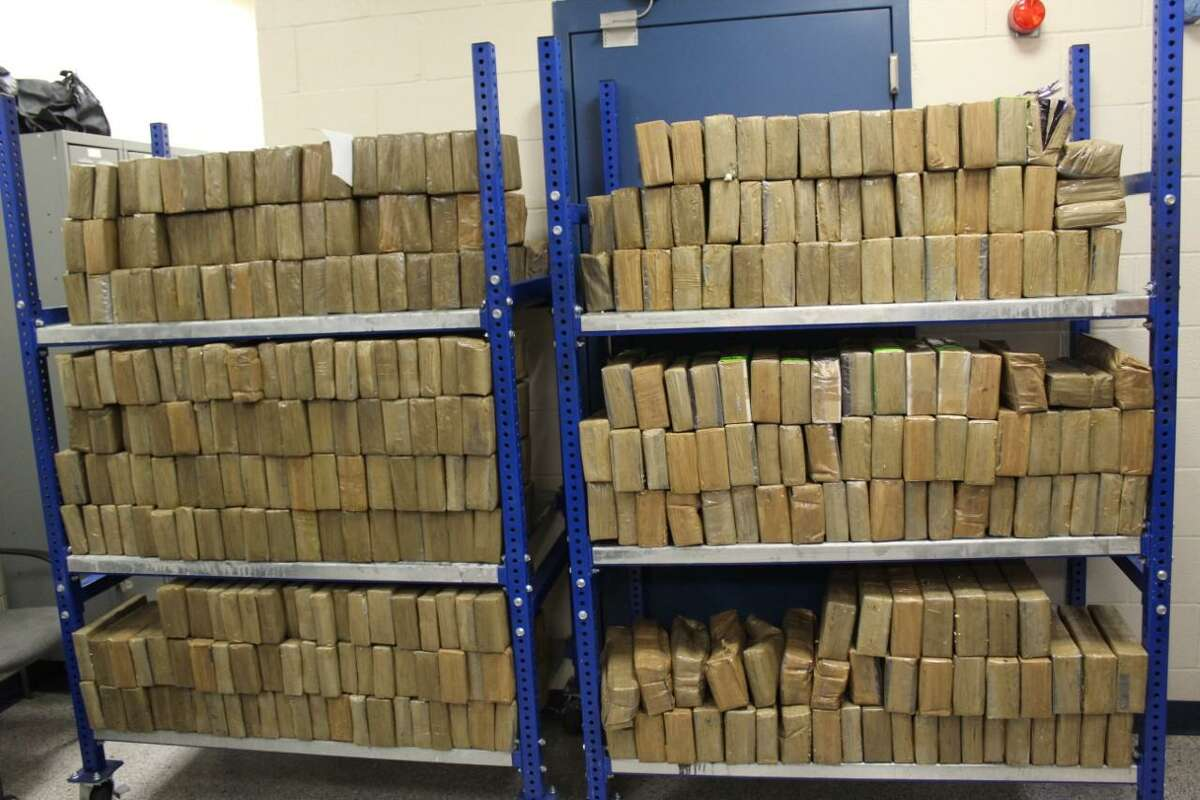 U.S. Customs and Border Protection officers seized these 1,049.84 pounds of methamphetamine at the World Trade Bridge on Oct. 28. The narcotics had an estimated street value of $20,996,610.