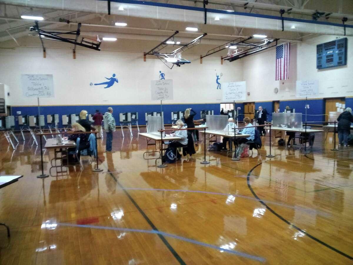 The polls at Torrington Middle School Tuesday, Nov. 3, 2020.